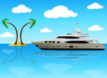 privat yacht Arkivfoton