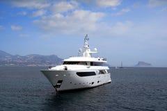 Privat yacht Arkivbilder