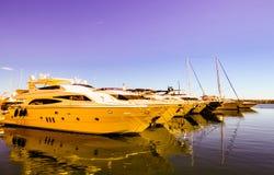 privat yacht Royaltyfri Bild