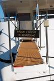 Privat yacht inget logi Arkivfoton