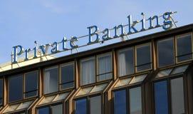 Privata bankrörelsen Arkivbild