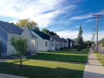 Privata hus i Winnipeg Arkivfoto