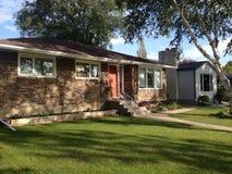 Privata hus i Winnipeg Royaltyfria Foton