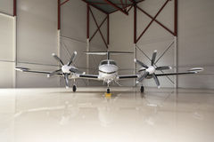 Private aircraft in an airport Royalty Free Stock Photo