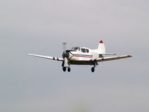Private aircraft on final approach. Small multipurpose private aircraft on final approach Stock Image
