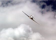 Private airplane. Flying through the clouds Royalty Free Stock Photography