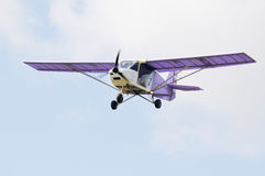 Private airplane in flight Stock Image