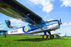 Private airplanes, Kamenets Podolsky, Ukraine Royalty Free Stock Image