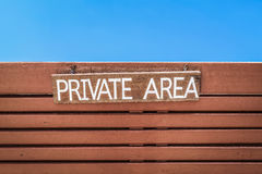 Private area Royalty Free Stock Photo