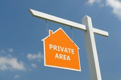 Private area signpost Stock Images