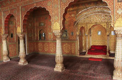 Private Audience Hall, Junagarh fort, Bikaner, India Royalty Free Stock Photo