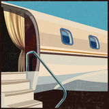 Private aviation illustration retro poster Royalty Free Stock Photo