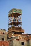 Private aviculture in Egypt. A typical egyptian dovecote in slums of Cairo Royalty Free Stock Images