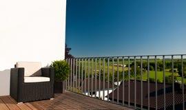 Private Balcony Stock Photo