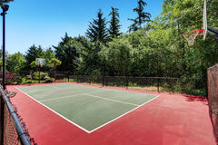 Private basketball court of Suburban luxury house Stock Images