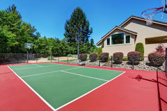 Private basketball court of Suburban luxury house Stock Photography