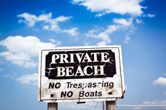 Private Beach Royalty Free Stock Photos