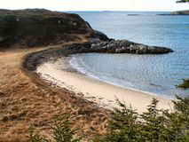 Private beach 2. A small beach on the southern coast of newfoundland canada Stock Photos