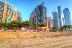 Private beach area of Khalidiya Palace in Abu Dhabi Royalty Free Stock Photo