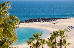 Private Beach in Cabo San Lucas Royalty Free Stock Images