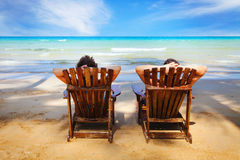 Private beach royalty free stock images