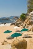 Private Beach Cove Acapulco Stock Image