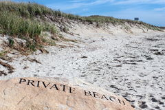 Private beach Stock Images