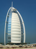 Private beach in the front of the Burj Al Arab hotel in Dubai Stock Photography