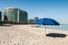 Private beach in housing complex Royalty Free Stock Photography