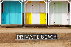 Private beach huts Royalty Free Stock Photo