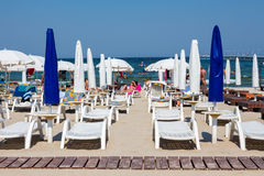 Private beach on Mamaia Royalty Free Stock Photos