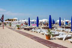 Private beach on Mamaia Royalty Free Stock Images