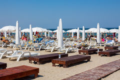 Private beach on Mamaia Royalty Free Stock Photo