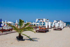Private beach on Mamaia Stock Images