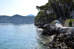 Private beach. On mediterran island Lastovo Royalty Free Stock Images