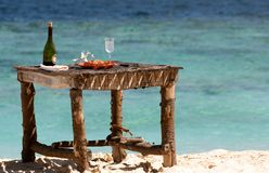 Private beach picnic Royalty Free Stock Images
