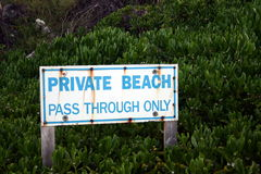 Private Beach Sign Royalty Free Stock Photo