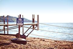 Private Beach sign Royalty Free Stock Photos
