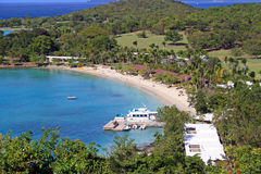 Private beach in st john, caribbean Stock Photography