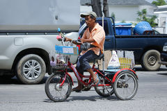Private Bicycle of lottery sale man. Royalty Free Stock Photo