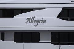 Private Boat Allegria in Venice, Italy stock image