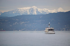 Private Boat on Vancouver`s English Bay Stock Photography