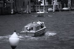 Private Boat in Venice, Italy royalty free stock images