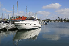 Private boats at Glorietta Bay Marina in San Diego Royalty Free Stock Images