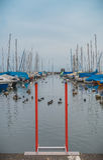 Private Boote im Hafen, See Geneve Stockfotografie