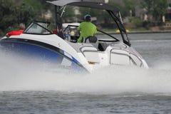 Private Bootfahrt herein in der Nassau-Bucht und im Kemah Texas lizenzfreie stockbilder