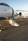 Private business jet. At the airport Royalty Free Stock Image
