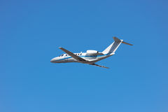 Private business jet takeoff Stock Photography