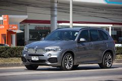 Private Car. Bmw X5. Chiangmai, Thailand - February 4 2019: Private Car. New Bmw X5. Photo at road no.1001 about 8 km from downtown Chiangmai, thailand royalty free stock photo