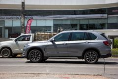 Private Car. Bmw X5. Chiangmai, Thailand - September 25 2018: Private Car. New Bmw X5. Photo at road no.1001 about 8 km from downtown Chiangmai, thailand royalty free stock photos
